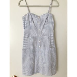 Abercrombie Button Up Mini Dress Light Blue Stripe